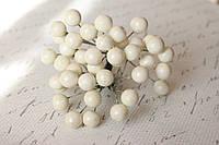 Глянцевые ягоды белого  цвета (калина) около 40 шт/уп., фото 1