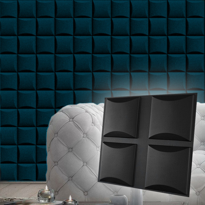 "Форма для модульных 3D панелей ""Бордо"" 200х200 мм"
