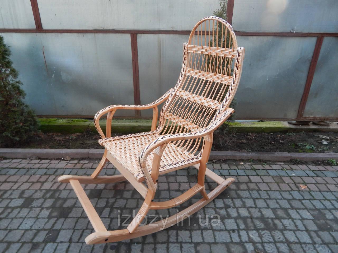 Плетеное кресло-качалка розборное, фото 1