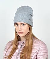 Трикотажная шапка ангора рубчик. gr-18002, фото 1
