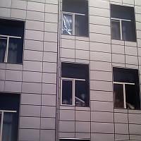 Кассеты фасадные скрытого монтажа (521 x 521 х 0.5) мм RAL 9006