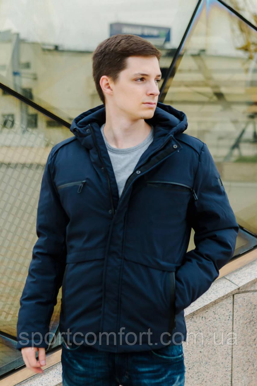 Куртка мужская чёрная, синяя FREEVER 8214
