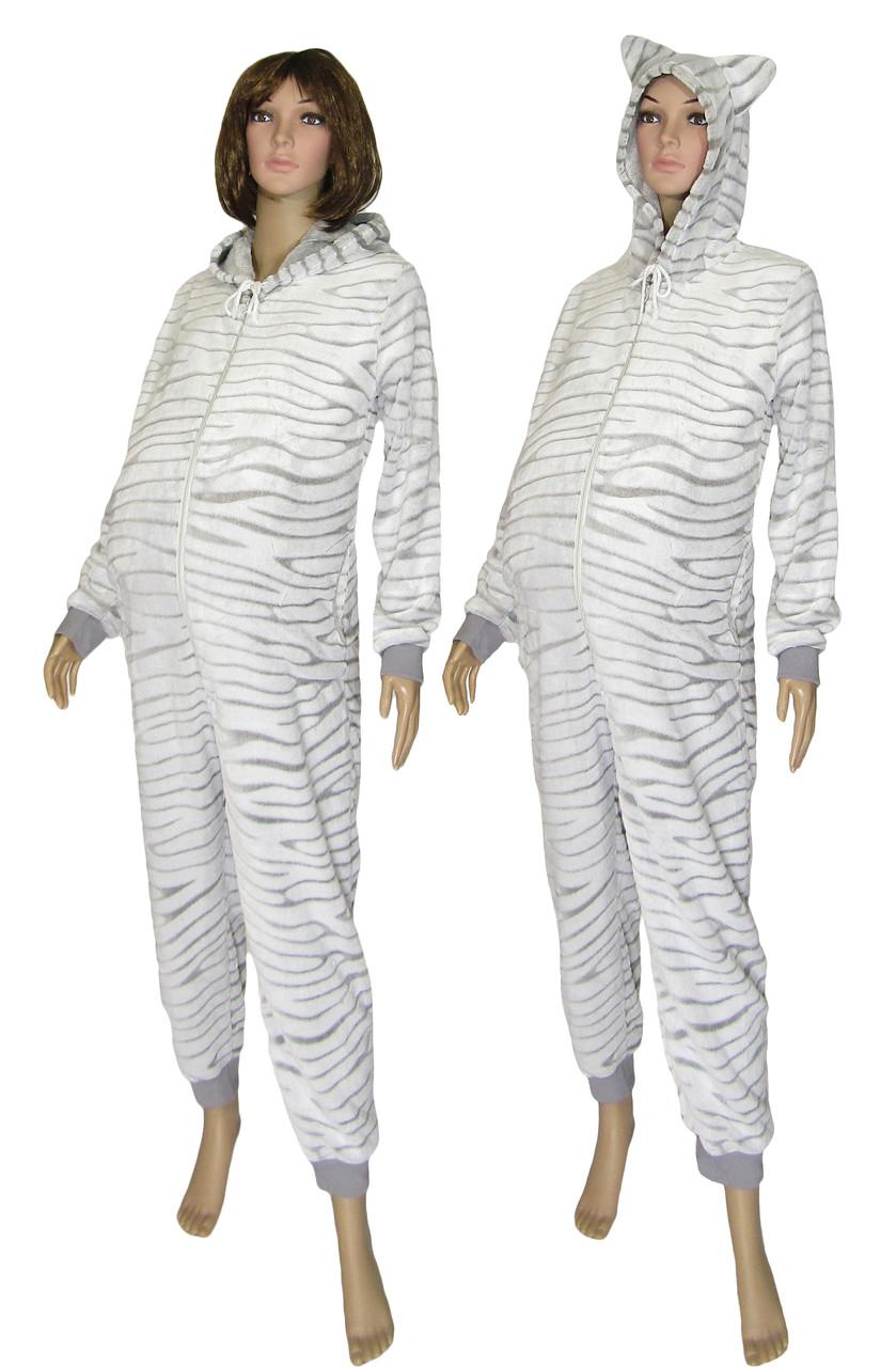 06dee544769 Пижама кигуруми махровая для беременных и кормящих 18063 Gulliver Шиншилла