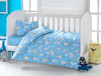 Постельное белье для новорожденных Brielle 503 Blue (ранфорс)