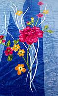 Плед акриловый большого размера Mink № 813 220X240см Flower