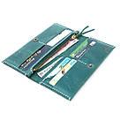 """Женский кожаный кошелёк """"Organ"""" зелёного цвета. Ручная работа, фото 3"""