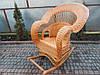 Королевское кресло-качалка из лозы