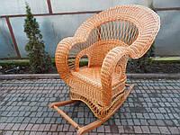 Королевское кресло-качалка из лозы, фото 1