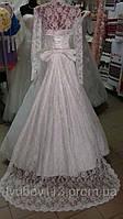 Платье свадебное гипюр шлейф