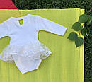 Боди с юбочкой для девочки 6-12-18-24 месяцев, фото 5