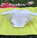 Боди с юбочкой для девочки 6-12-18-24 месяцев, фото 2