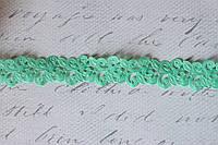 Кружевная лента мятного цвета ширина 2 см, фото 1