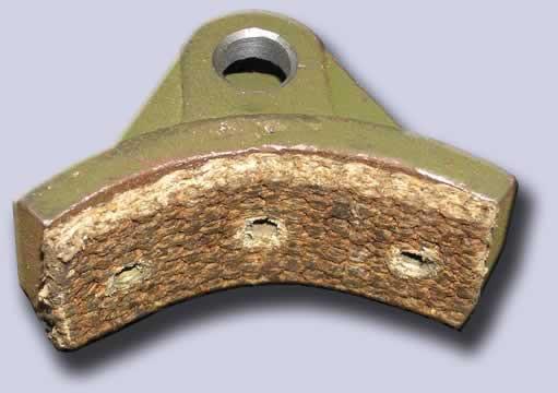 Колодка тормозная в сборе к редуктору (механизму) поворота автокрана