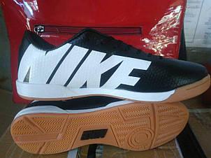 Подростковые футзалки Nike Mercurial черно-белые, фото 2