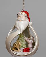 Фарфоровая подвеска на елку С Новым годом
