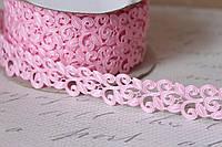 Кружевная лента розового цвета ширина 2 см, фото 1