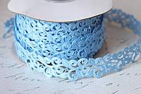 """Кружевная лента """"Вензель"""" голубого цвета ширина 2 см оптом"""