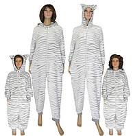 NEW! Теплые пижамы кигуруми для всей семьи - Family Look Gulliver Шиншилла от ТМ УКРТРИКОТАЖ!