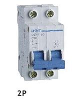 Автоматический выключатель CHINT DZ47-60 2P C 63A 4,5kA на DIN-рейку