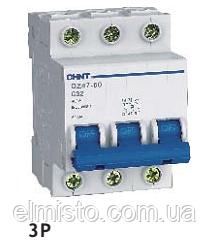 Автоматический выключатель CHINT DZ47-60 3P C 40A 4,5kA на DIN-рейку