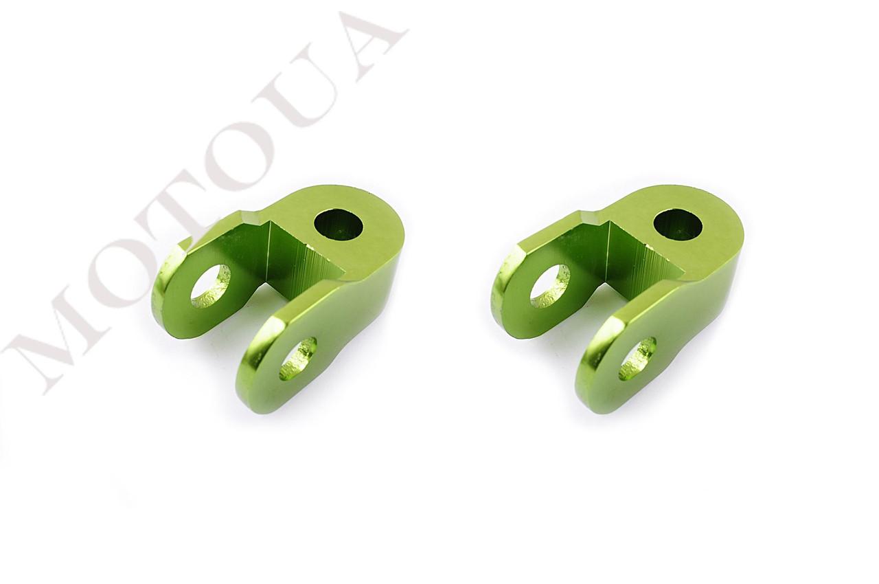 Продовжувачі (удлинители) амортизатора (пара) 3см, Ø10мм (зелені) RIDE