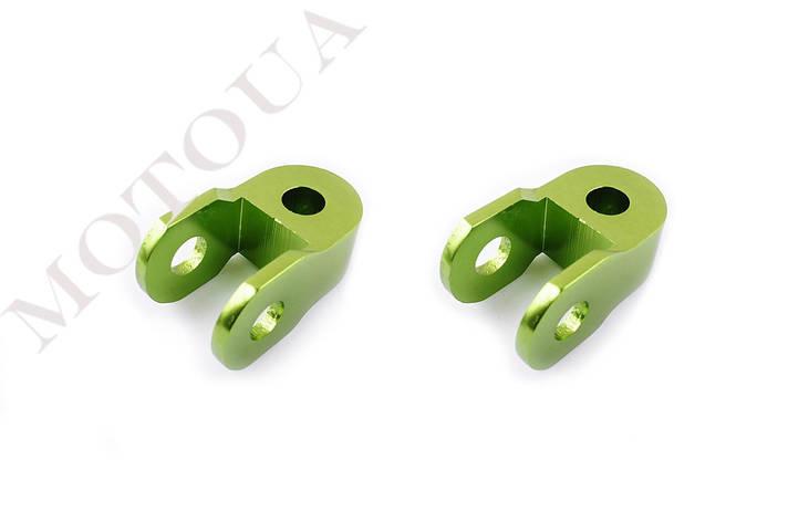 Продовжувачі (удлинители) амортизатора (пара) 3см, Ø10мм (зелені) RIDE, фото 2