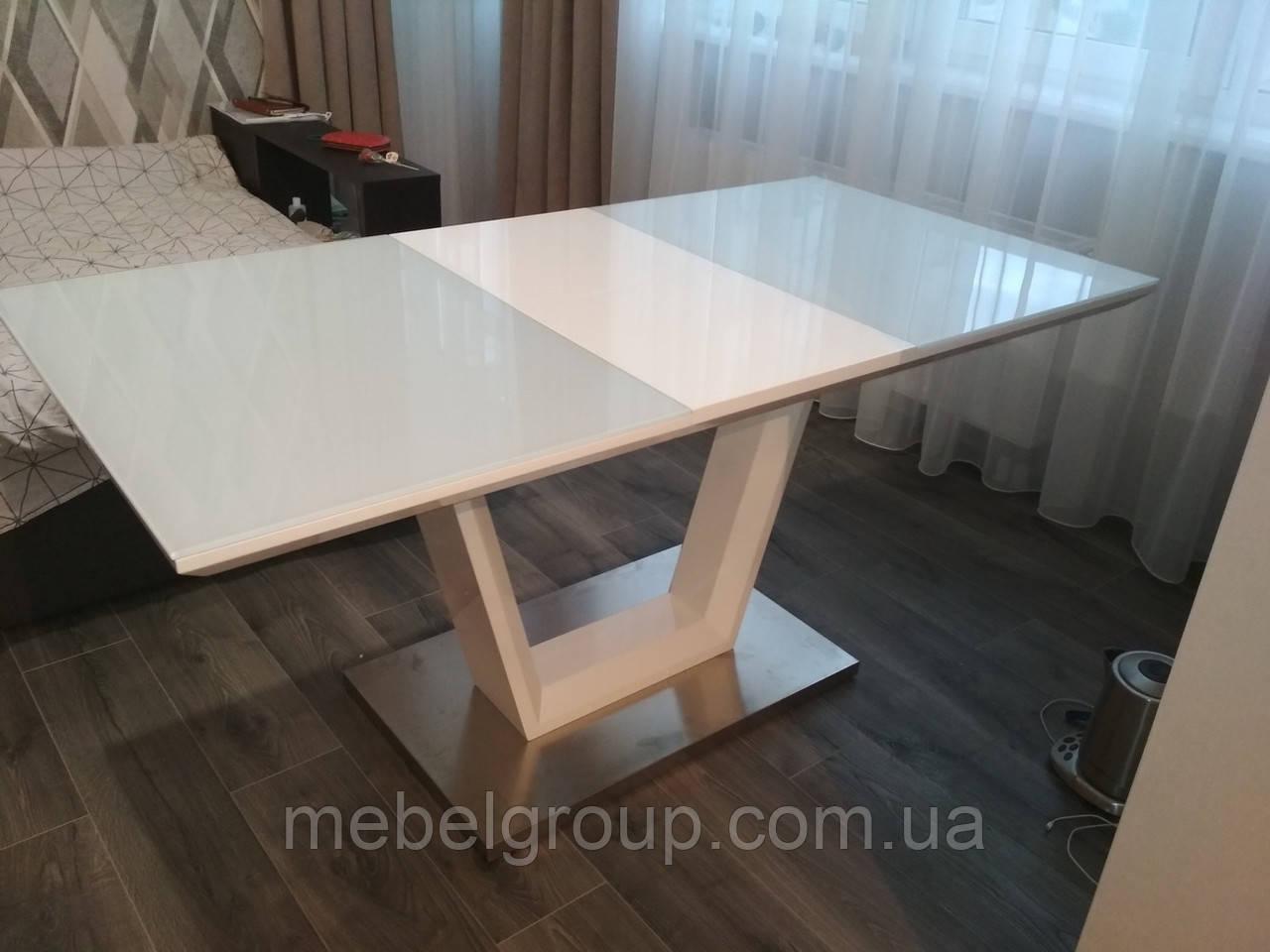 Стол ТМ-51-1 белый 120/160x80