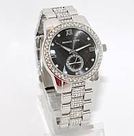 Женские часы Michael Kors серебро с черным экраном, фото 1
