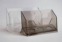 Визитница  одинарная прозрачная (коробочка)