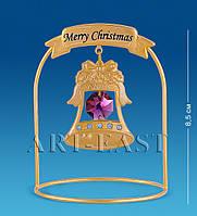 Фигурка с кристаллами Сваровски и позолотой Рождественский колокольчик