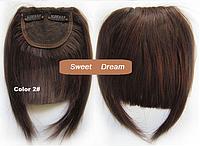 Накладная челка из натуральных волос, на двух заколках-клипсах, цвет - №2