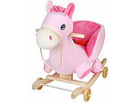 Детская музыкальная качалка Розовое Пони