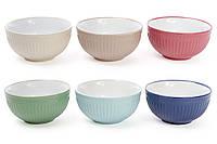 Набор пиал для супа Pastel 6 круглых салатников