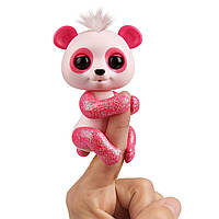 WowWee Fingerlings Блестящая интерактивная ручная панда Полли Glitter polly Baby panda Interactive