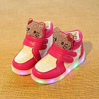 e704b5b90741 Киев. Hello Kitty Star, Малиново-белые светящиеся кроссовки LED, размер  22-27 (