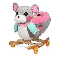 Детская музыкальная качалка Мышка KIDSEE