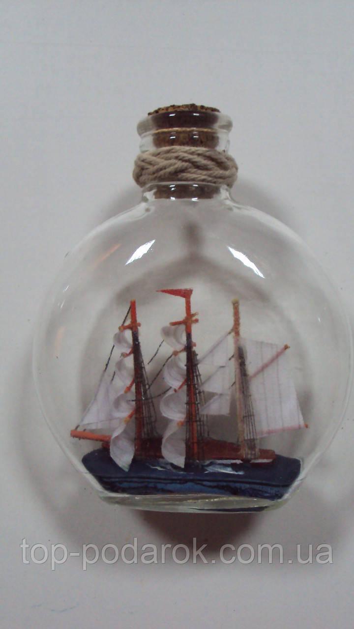 Корабль в бутылке высота 11 см