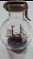 Корабль в бутылке высота 9 см