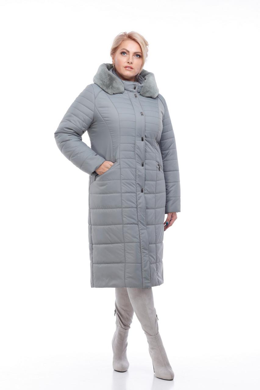 93d94a9db1e3 Купить женское зимнее пальто Софи-2,фисташка мех кролик от ...