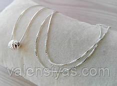 Серебряная цепочка с шаром - колье