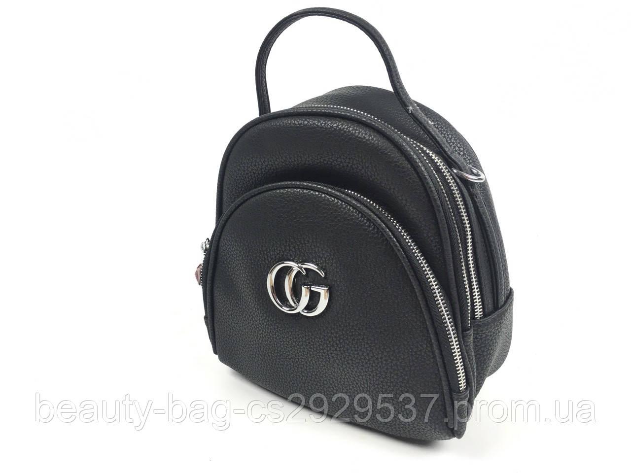 Рюкзак молодежный каркасный QN-1078 black черный