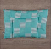 """Подушка """"Малюк"""" Миткаль 40*60 см для новорожденного, бирюзовый"""
