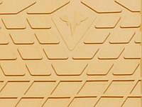 Резиновые коврики Лексус Джи Ес (2 ведущих колеса) 2005- Комплект из 2-х ковриков Бежевый в салон