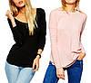 Пошив женских футболок с длинным рукавом на заказ оптом