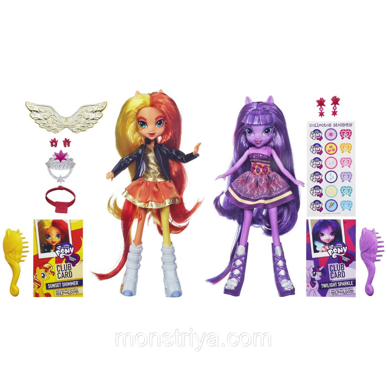 My Little Pony Equestria Girls набор из 2 кукол Искорка и ОгоньTwilight Sparkle and Sunset Shimmer купить пони