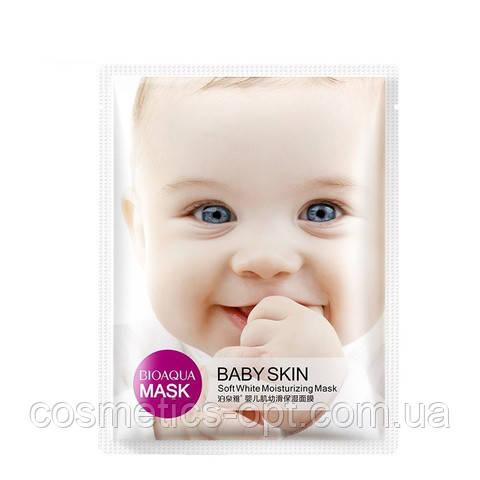 Тканевая маска тонизирующая BIOAQUA Babe Skin SOFT WHITE MOISTURIZING MASK