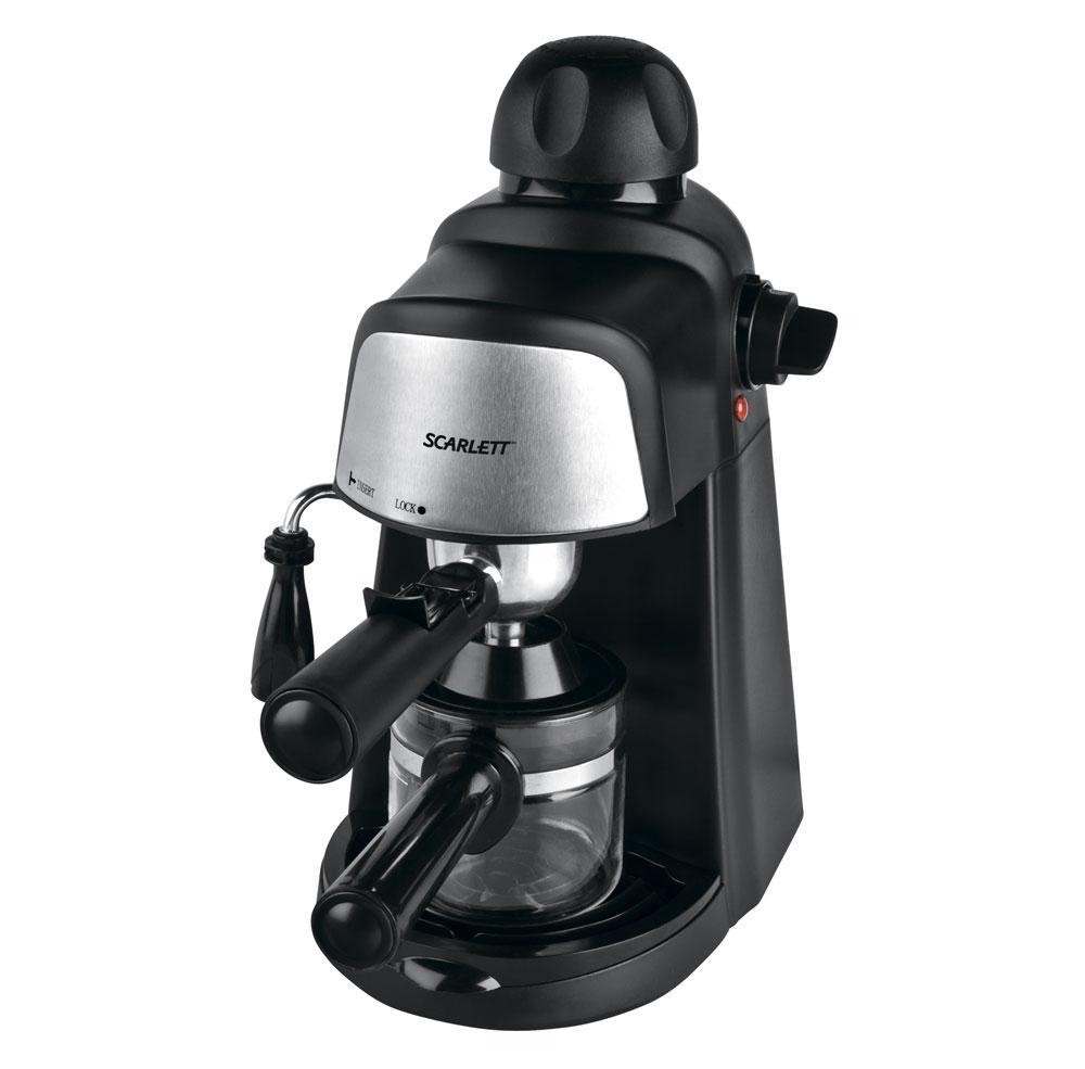 Кофеварка для дома Scarlett SC-037 Black, кавоварка скарлет