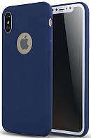 Чехол-накладка TOTO Matte colorful TPU case iPhone X Blue