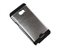 Крышка-бампер пластик+металл Motomo Soft touch for Samsung Galaxy Note 5, Silver