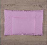 """Подушка """"Совенятко"""" Горох Поплин 40*60 см для новорожденного, розовый"""